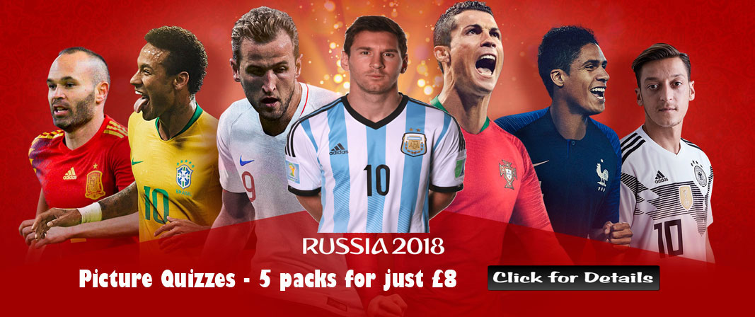 Peacock Quizzes World Cup Picture Quiz Offer